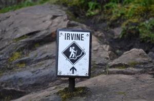 Irvine Trail marker