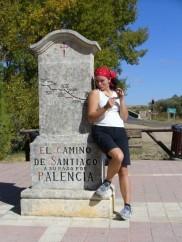 Signpost along the Camino