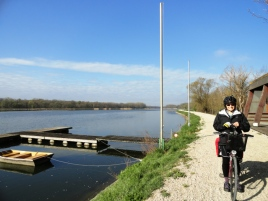 My mom along the Danube