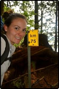 75 km mark