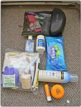 First aid kit & toiletries