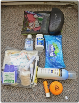 First aid kit & toiletries