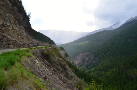 Rainy day ride to Lillooet