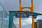 This odd pedestrian bridge was very motivational (and only about 25 steps up!)