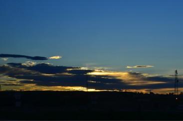 Sun setting over Calgary