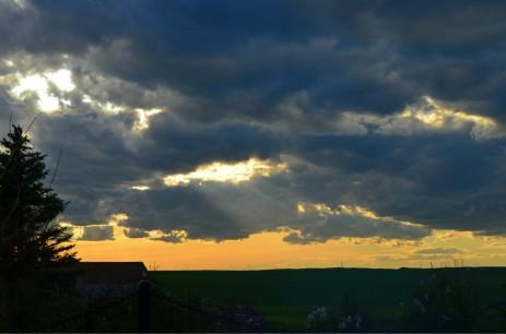Sun setting over Gleichen