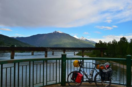 The bridge into Revelstoke