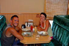 Siggy & I at the diner