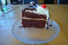 Mmmmm home-made black forest cake!