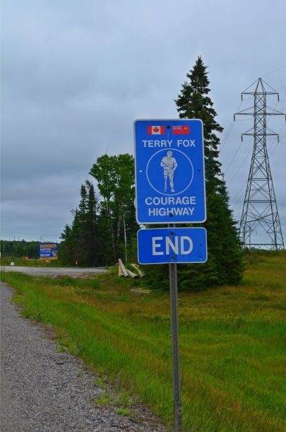 The stretch between Thunder Bay and Nipigon area is the Terry Fox Courage Highway