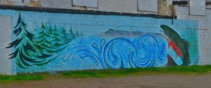 A mural in Nipigon