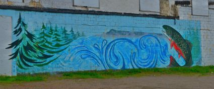 A mural in Nipigon