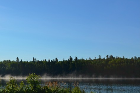 Mist in the morning on Dixie Lake