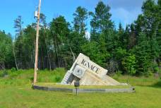 The Welcome to Ignace sign - as I was leaving
