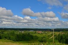 A scenic lookout over Ignace - I was unimpressed...