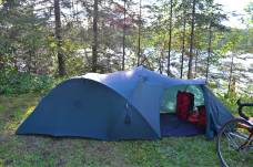 Tom's tent - I like the extra space