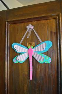 A dragon fly for my collection! On my aunt's door.
