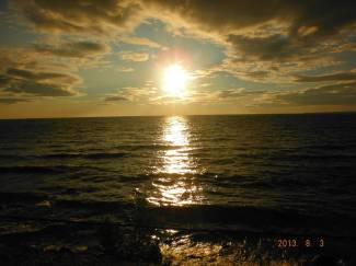The sun setting - Alex's pic