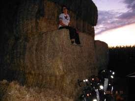 Climbing on the hay