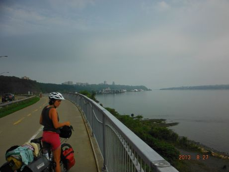 Riding the bike path to Quebec City (Alex's)