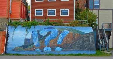 Murals in Gaspe