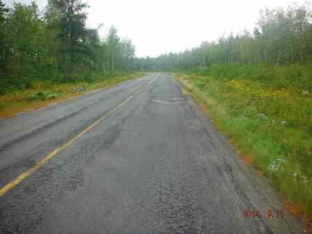 The condition of the road - not actually too bad (Alex's)