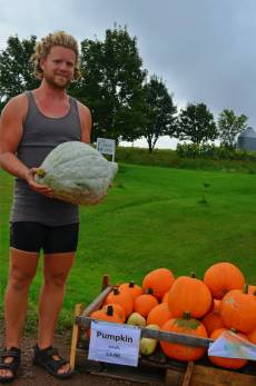 Alex and some pumpkins!