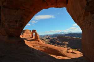 First view of Delicate Arch